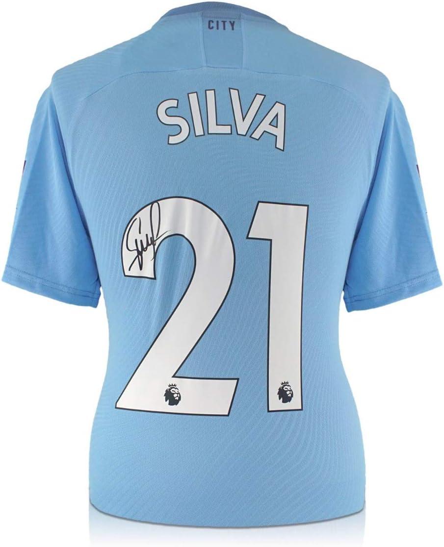 exclusivememorabilia.com Camiseta del Manchester City 2019-20 firmada por David Silva. En Caja de Regalo: Amazon.es: Deportes y aire libre