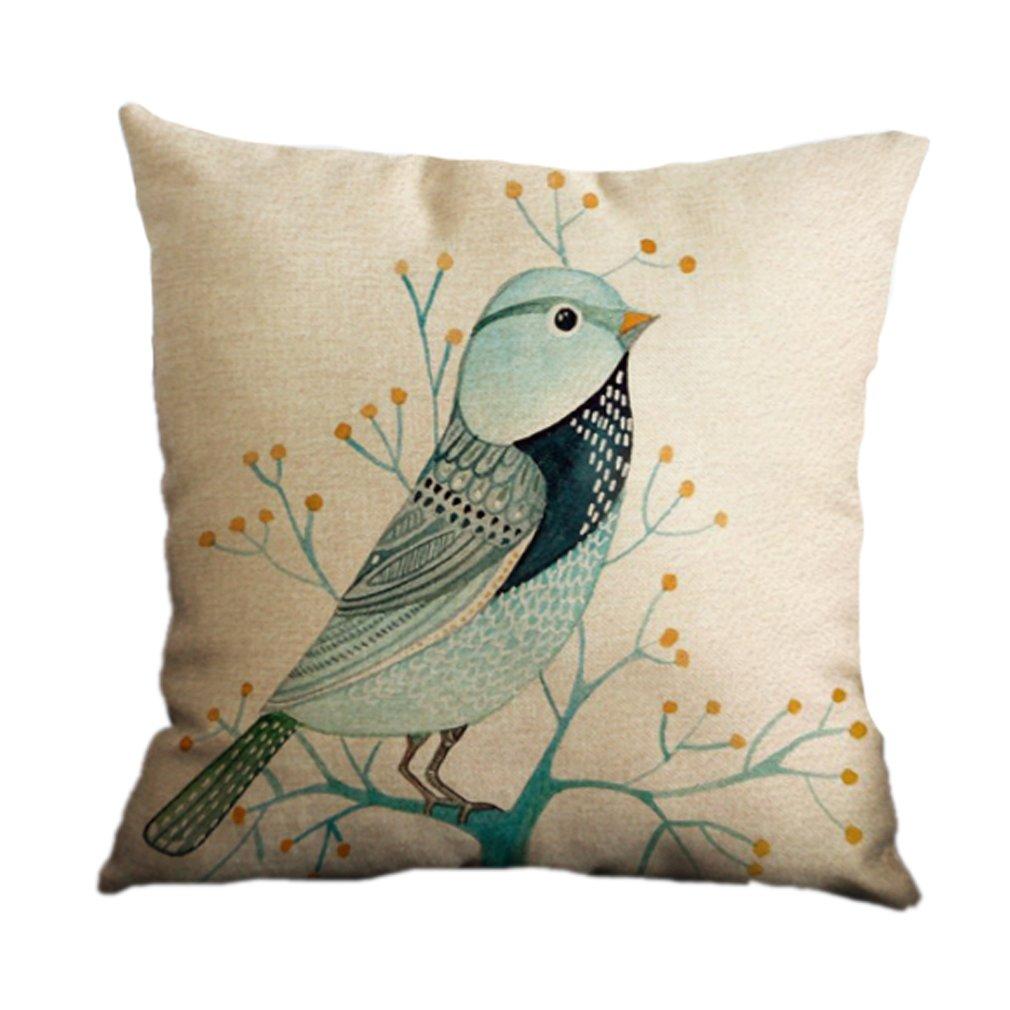 Nunubee Cotton Linen Square Decor Throw Pillow Case Cushion Cover Colorful Imagine 18