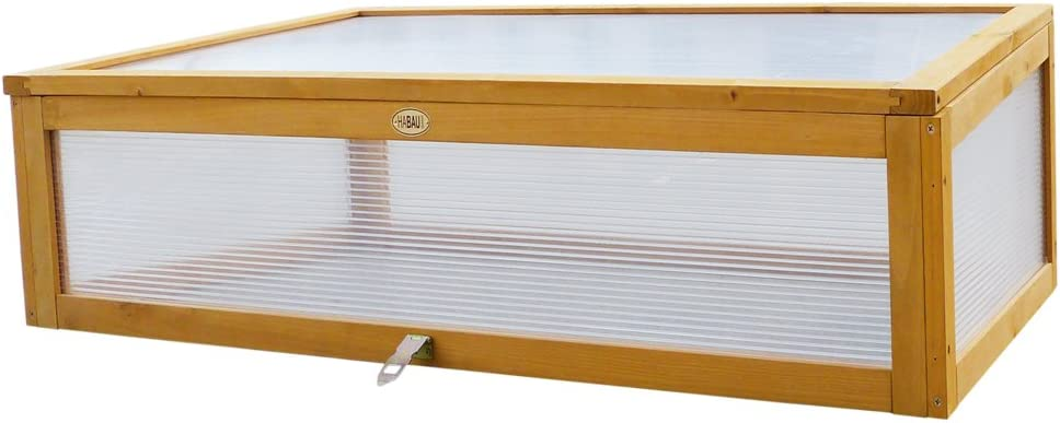 115 x 53 x 32 cm Yellow HABAU Cold Frame Attachment for Raised Bed