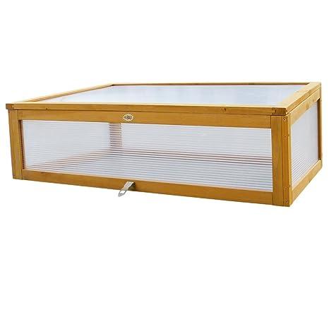 Habau - Caseta de exterior para mesas de cultivo de suelo alto, 115 x 53