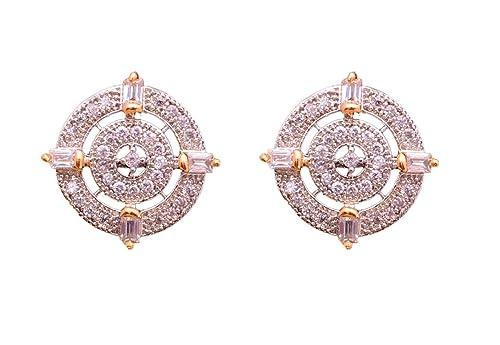 a077870cd6c Sitashi Fashion Imitation Jewellery AD Ear Rings Stud for Girls and Women   Amazon.in  Jewellery