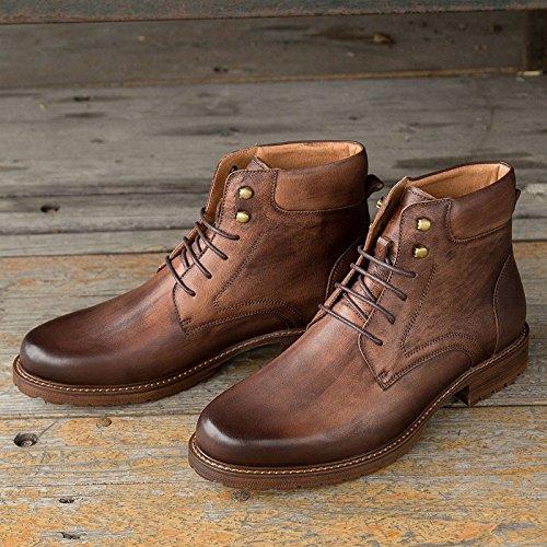 De Botines Casual Botas Brown Cuero Retro Otoño Hombres Zapatos xwqIPZzBZ