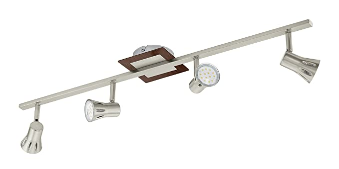 Plafoniere Per Travi In Legno : Eglo 93559 travi spotlight legno gu10 marrone: amazon.it