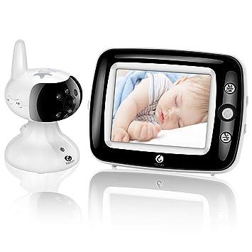 Amazon.com: Monitor de vídeo digital para bebés con pantalla ...