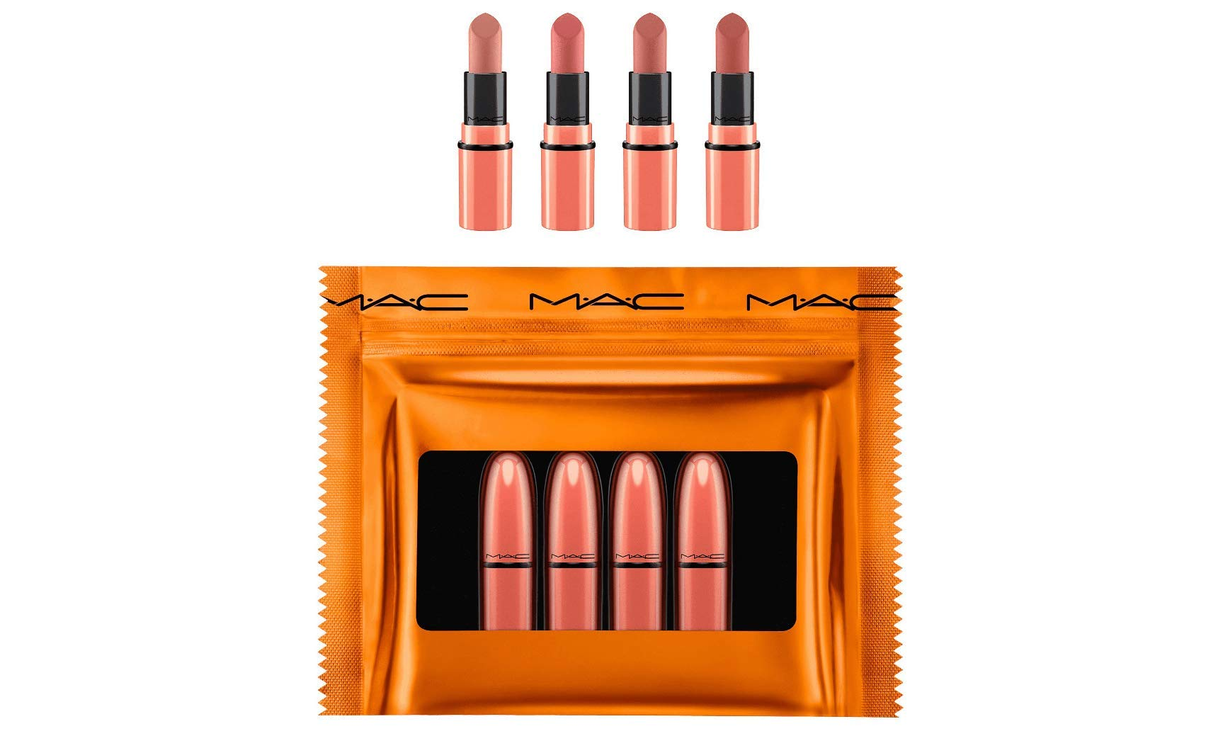 M.A.C. Shiny Pretty Things Party Favors Mini Lipstick Gift Set NUDES