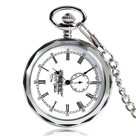 DBBKO Reloj de Bolsillo Retro Moda Enfermera Romana maquinaria Digital Reloj de Bolsillo Pendiente Regalo