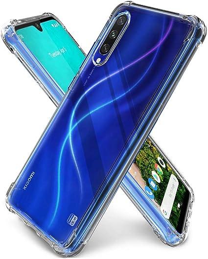 QHOHQ Funda para Xiaomi Mi A3, TPU Premium con Cuatro Esquinas de protección Funda de Silicona para Xiaomi Mi A3 (Transparente): Amazon.es: Electrónica