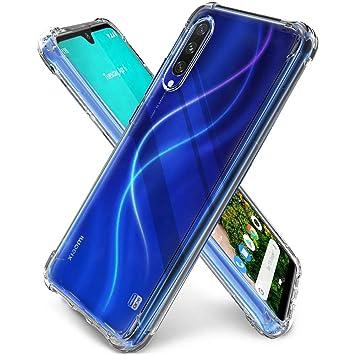 QHOHQ Funda para Xiaomi Mi A3, TPU Premium con Cuatro Esquinas de protección Funda de Silicona para Xiaomi Mi A3 (Transparente)
