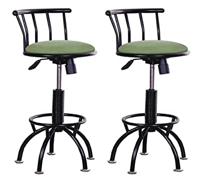 Amazoncom The Furniture Cove Set Of 2 Adjustable Height Stools