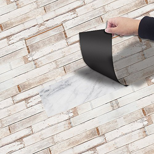 Cheap  YEARGER 3D Self-adhesive Flooring Stickers Wood Decals Waterproof Kitchen Bedroom Living Room..