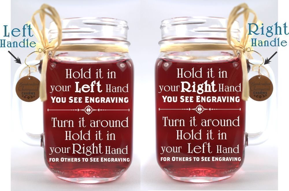 Bride and Groom Wedding Mason Jars for your Western Wedding Personalized with Name and Date. by Design Imagery Engraving (Image #2)