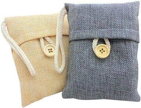 Amazon.com: Purificador de aire de carbón de bambú y bolsa ...
