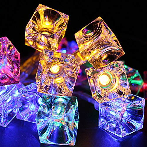 Battery Operated Ice Cube LED Christmas String Lights – Multi Color String Light, 2 Work Modes Battery Box, 7.3ft Length 20 Cubes for Christmas, Holiday, Party, Event Decorative Lighting by TORCHSTAR (Image #3)
