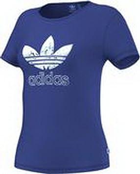 adidas Originals Camiseta para dama - Azul, 34 EUR