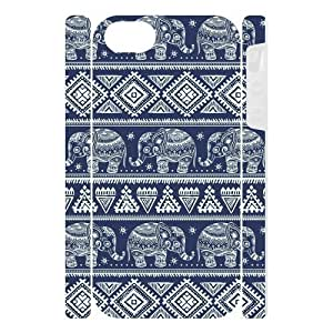 Canting_Good Elephant aztec tribal Custom Dual-Protective 3D Polymer Case Shell Skin for IPhone 5
