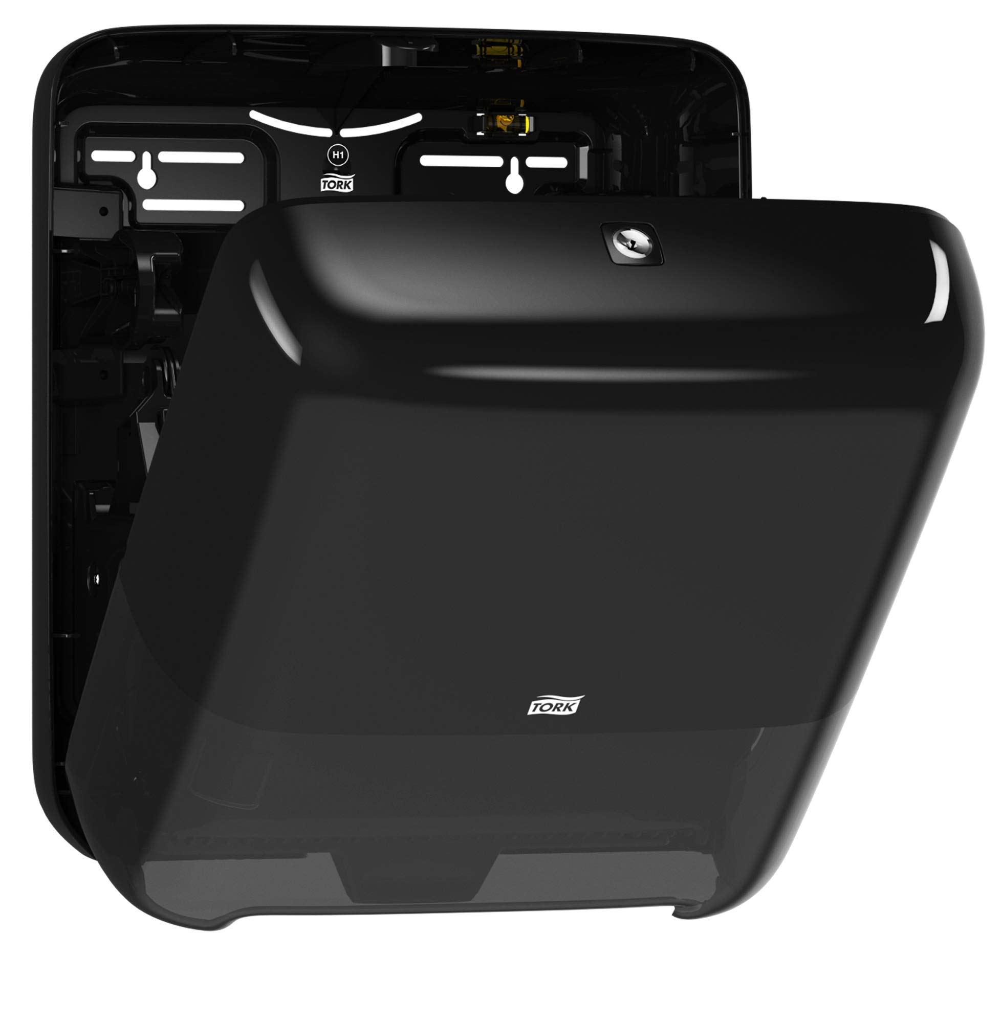 Tork 5510282 Elevation Matic Paper Hand Towel Roll Dispenser, 14.65'' Height x 13.2'' Width x 8.1'' Depth, Black (Case of 1 Dispenser) by Tork (Image #8)