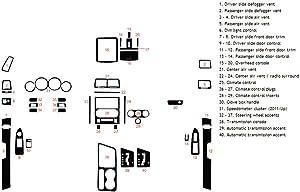 Rdash Dash Kit Decal Trim for Dodge Challenger 2008-2014 - Matte (Red)