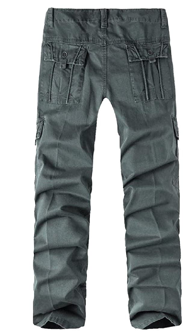 Maisicolis Mens Long Maxi 100/% Cotton Twill Fabric Tactical Work Pants