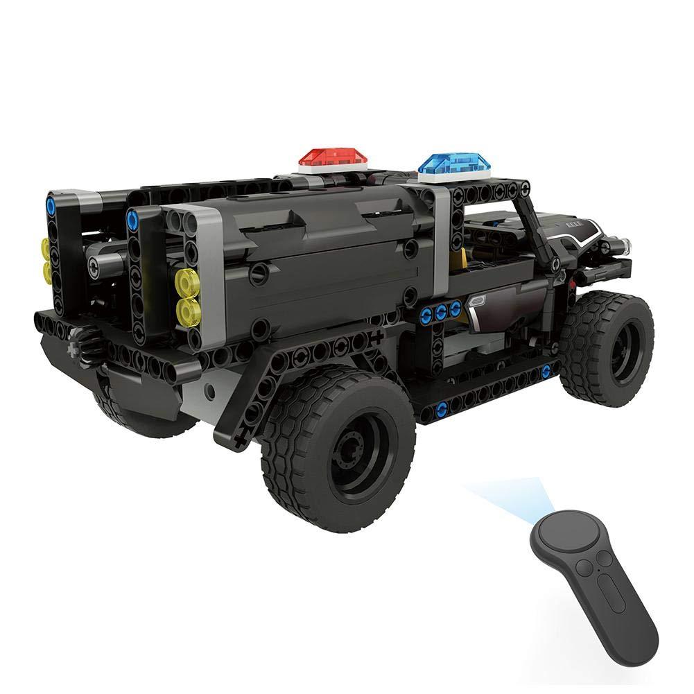 Dilwe RC Coche 4CH Control Remoto El/éctrico Policial Coches Bloques Ensamblar Veh/ículo Modelo Kit Juguete