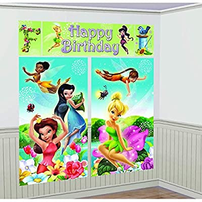 Scene Setters Wall Decorating Kit | Disney Tinkerbell Collection | Birthday: Toys & Games