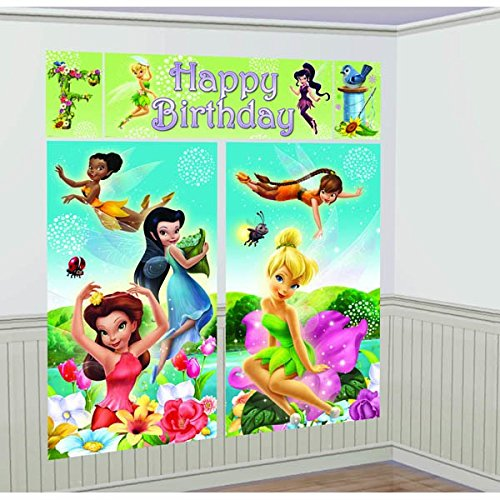 Scene Setters Wall Decorating Kit | Disney Tinkerbell Collection | Birthday -