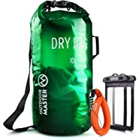 OutdoorMaster Dry Bag OPAK - Waterproof, Lightweight Dry Sack with 2 x Free Waterproof Cell Phone Cases - for The Beach, Boating, Fishing, Kayaking, Swimming, Rafting