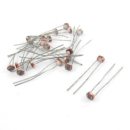 20 Pcs 50-100K ohm Photoresistor Photo Resistors Light-Dependent ...