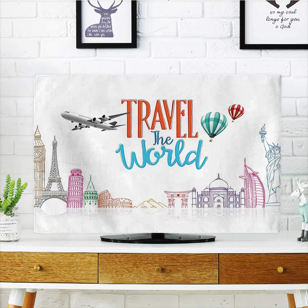 Protect Your TV Travel The Lettering with Around Landmarks Balloons Protect Your TV W19 x H30 INCH/TV 32''