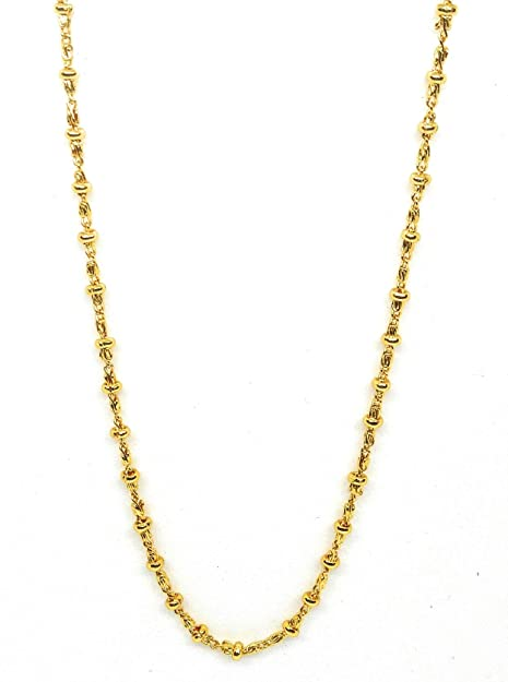 Buy KHUBSURAT Brass Micro Gold Plated Neck Round Shape Chain for Women  (23.5 Inch Long) Online at Low Prices in India  6ca192c2b0