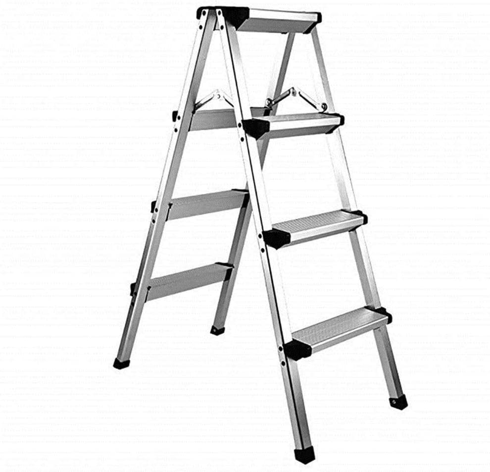 LYATW Aluminio Taburete de Paso, Paso Escalera Plegable, Antideslizante Plataforma Ligera heces (Size : Four-Step Stool): Amazon.es: Hogar