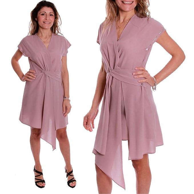 new product 34c86 046d3 COCONUDA - Abito Vestito Sera Elegante Sexy Smanicato Moda ...