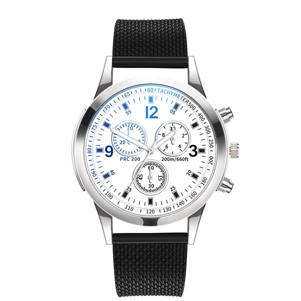 Men's Watches, VANSOON Luxury Watches Quartz Watch Stainless Steel Dial Casual Bracelet Watch Business Sport Digital Military Army Waterproof Wrist Watch for Men Gift Clearance