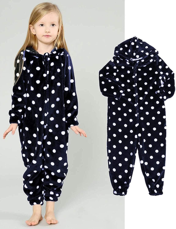 Kinder M/ädchen Jungen Schlafoverall Jumpsuit Overall Onesie Pyjama Einteiler Lang Strampler Schlafanzug Nachtw/äsche Playsuit Homewear Mit Kaupuze /& Rei/ßverschluss