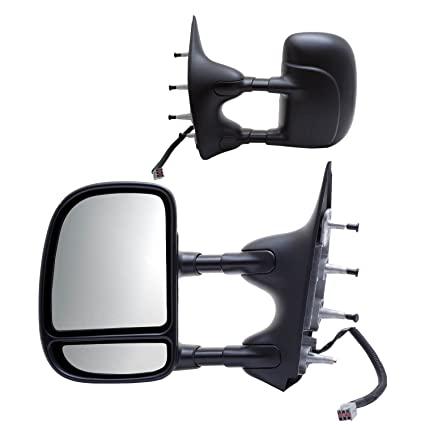 Amazon Fit System 61203 04F Ford Econoline Driver Passenger Side Power Extendable Towing Mirror