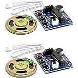 HiLetgo® 2個セット ISD1820 レコーダーモジュール ボイス レコーディング サウンド マイク+0.5Wスピーカー [並行輸入品]