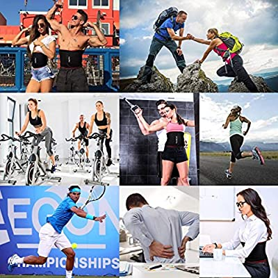 YIANNA Waist Trainer/Trimmer Slimming Body Shaper Belt - Sport Girdle Band Weight Loss Workout Fitness