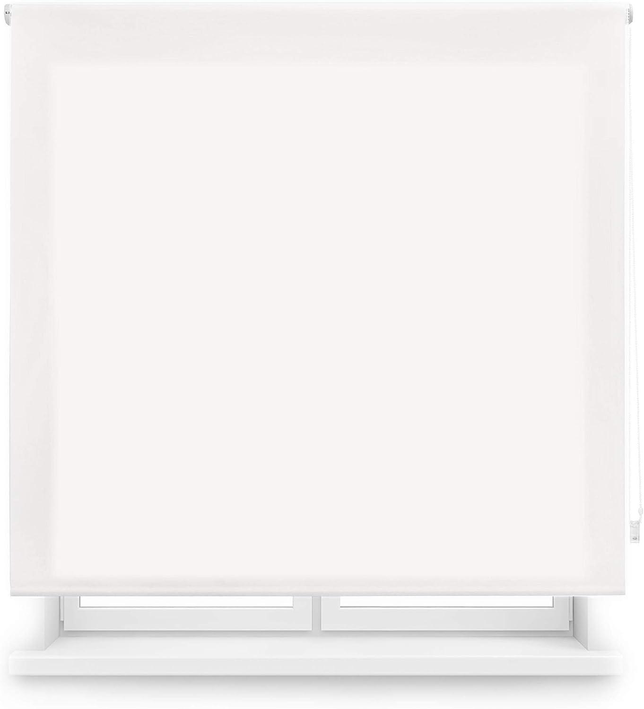 Blindecor Ara - Estor enrollable translúcido liso, Blanco Roto, 120 x 250 cm (ancho x alto)