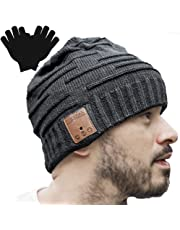 $31 » Upgraded Unisex Knit Bluetooth Beanie Winter Music Hat Headphones V4.2 w/Built-in Stereo Speaker Unique Christmas Tech Gag Gifts for Boyfriend/Him/Men/Teen Boys/Stocking Stuffers Best Friend Birthday