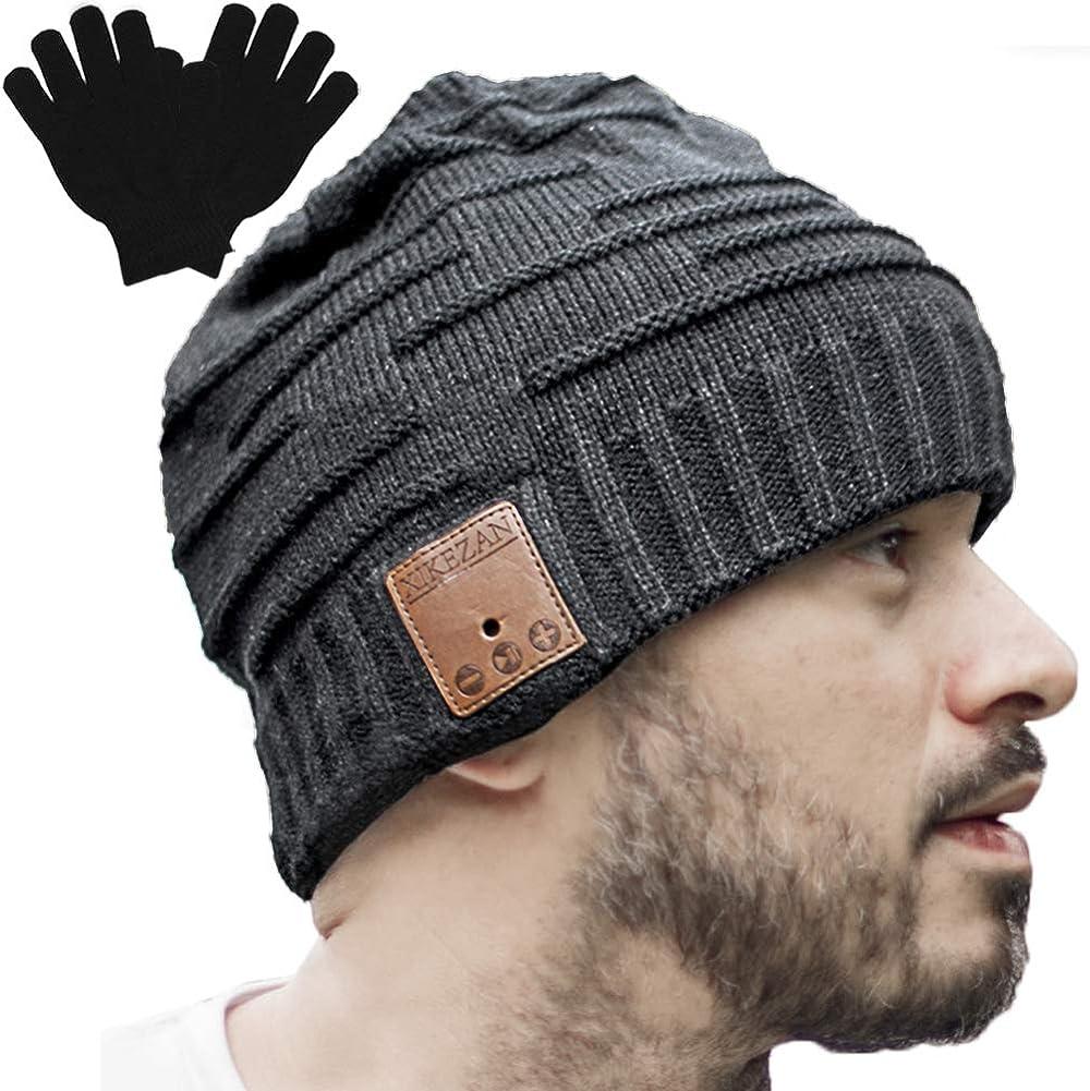 XIKEZAN Upgraded Unisex Knit Bluetooth Beanie Winter Music Hat Headphones w/Built-in Stereo Speaker Unique Christmas Tech Gag Gifts for Boyfriend/Him/Men/Teen Boys/Stocking Stuffers Friend Birthday
