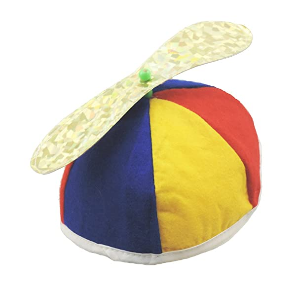 175bbf09212 ... Cap  more photos 570f0 1099e Amazon.com Multi Color Felt Spinning  Propeller Clown Beanie Hat Everything ...