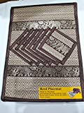 Best McCall's Blinds - Set of 6 Thai Silk Elephant Woven Straw Review
