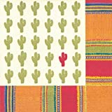Ideal Home Range 20 Count Boston International 3-Ply Paper Lunch Napkins, Cactus Habanera