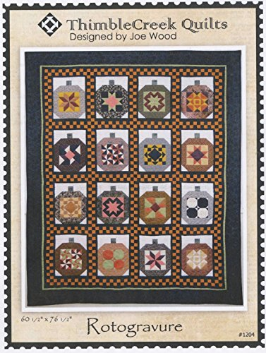 Rotogravure Pumpkin Quilt Pattern by Joe Wood from Thimblecreek Quilts 60.5