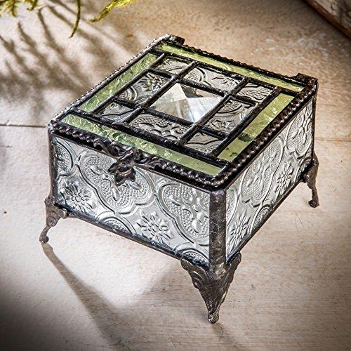Vintage Glass Trinket Box - 2