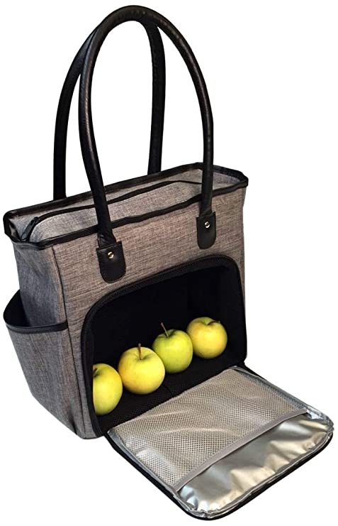 Insulated Lunch Bag Tote for Women | Adult Womens Lunch-box Cooler Bags for  Work | Ladies Commuter Totes | Meal Prep Handbag Purse with Zipper |