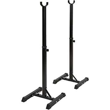 Physionics® - HTAL03 - Estante para Pesas - Altura Regulable Entre 89 y 144 cm: Amazon.es: Deportes y aire libre