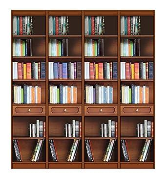 Amazonde Bücherregal 2 M Aus Massivholz Bücherregal Wand Mit