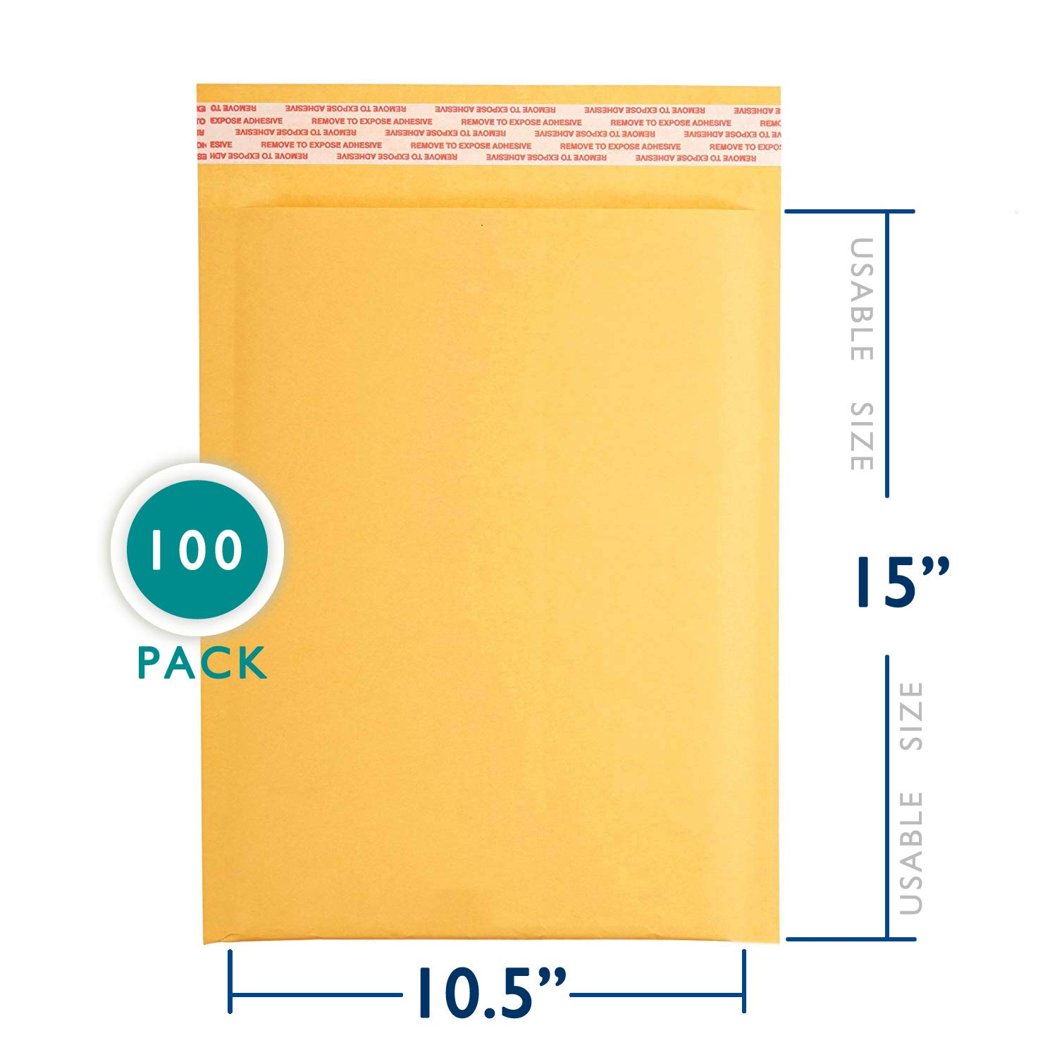 8.5x12 inches Kraft Bubble Mailer Self Seal Bubble Shipping Envelopes 100 Pack