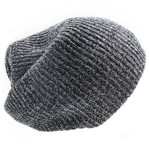 New Gray Ribbed (BXI Unisex Beanie Cap Knitted Warm Solid Color Winter Watch Hat (New Gray))