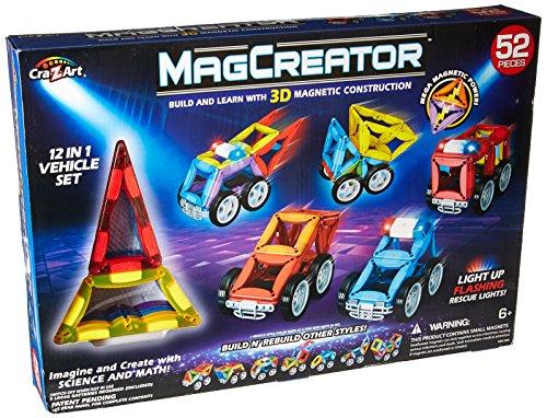 Cra-Z-Art 52Piece Magcreator Vehicle Set Construction Toy